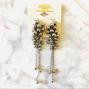 NWT Amrita Singh Disco Ball Statement Earrings